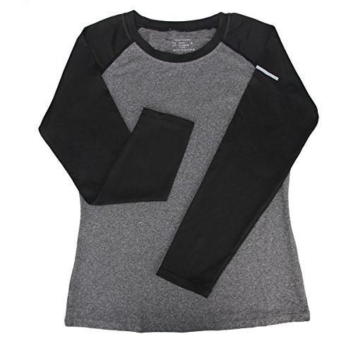 Bonjanvye Long Sleeve Outdoors Shirts and Pants Suit for Women Activewear Set gray