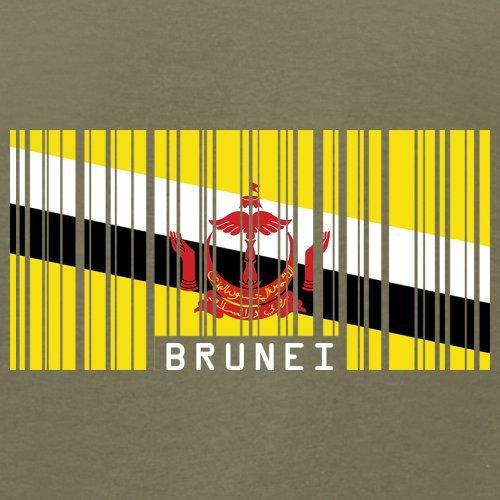 Brunei Barcode Flagge - Herren T-Shirt - 13 Farben Khaki