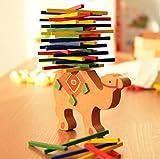Prevently Toy Bloque de Juguetes para Niños, Juguetes educativos creativos para Niños, Camello de Madera, Juego de Equilibrio Montessori Bloques Juguetes Regalo, Multicolor