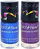 Best Cherry Nail Polish Sets - Color Fever Nail Gloss and Polish Set, Blue/Wine Review