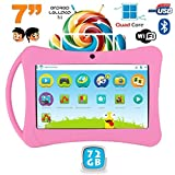 Tablette enfant 7 pouces Android 5.1 Bluetooth Quad Core 72Go Rose
