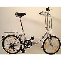 Germ anxia bicicleta plegable Comfort 20 6 g Shimano Incluye LED de iluminación ...