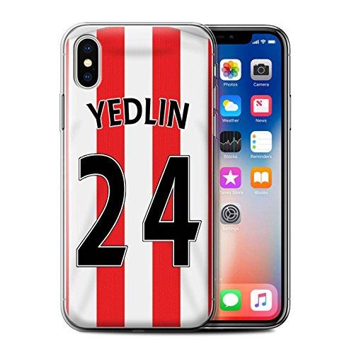Officiel Sunderland AFC Coque / Etui Gel TPU pour Apple iPhone X/10 / Kone Design / SAFC Maillot Domicile 15/16 Collection Yedlin