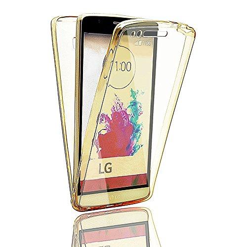 Full Cover 360 Grad Protect TPU Display Schutz Hülle Handy Tasche Etui LG K5 Gold