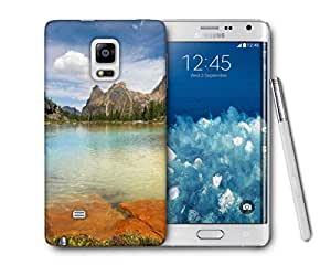 Snoogg Rocks In The Lake Printed Protective Phone Back Case Cover For Samsung Galaxy NOTE EDGE