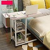 XP Tabelle Overbed Laptop Cart Computer Tray Seite für Bett oder Sofa Laptop Schreibtisch mit Rädern 5 Farben,Holz