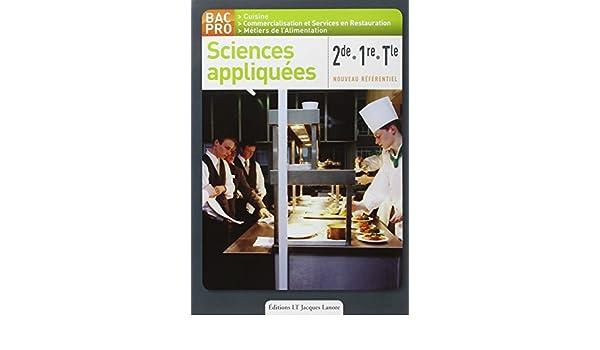 Sciences Appliquees 2de 1re Tle Bac Pro Cuisine Nouveau