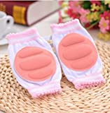 #3: Zimga's Crawling Elbow Cushion/ Knee Pads Protector for Infants Toddlers Baby (PINK)