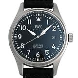 IWC Herren-Armbanduhr 40mm Armband Leder Schwarz Gehäuse Edelstahl Synthetisches Saphir Automatik IW327001