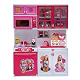 Best Barbie Play Kitchens - Toyzrin Barbie Kids Modern Kitchen Play Toy Set Review
