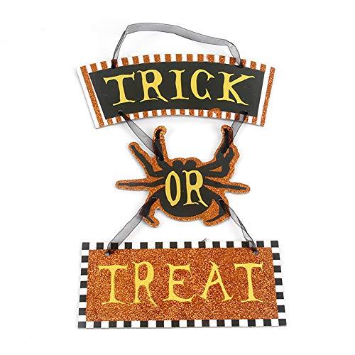 hou zhi liang 1 STÜCKE Halloween Hängende Requisiten Bar Ornament Auflistung Plaque Dekorative Hängende Zeichen (Brief)