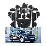 YEE PIN Lot de 15 Tapis antidérapants pour Porte de Voiture Compatible avec Jeep...