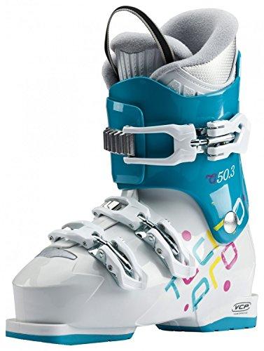 TECNOPRO Chaussures de Ski Enfants G50-3 Mixte, Aqua Bleu/Blanc, 22