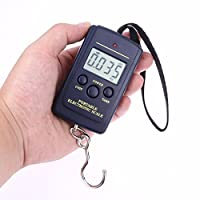 88lb/40kg Digital Scale, Electronic Fishing Hanging Hook Scale, Easy Luggage Scale with Measuring Tape, Backlit LCD Display