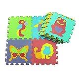 10 Stück pro Satz 30x30 cm Baby Spielmatte Puzzle rutschfeste Puzzle Mat Kinder Spiel Krabbeln Matte Kind Puzzle Schaum Tier Puzzle Matte digitale Brief pädagogische Schaum Matte umweltfreundliche mat