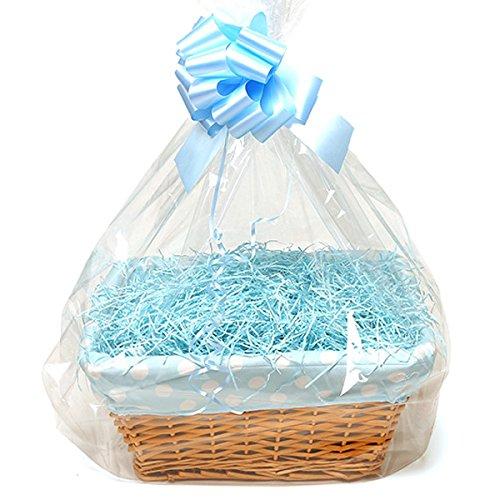 Homemade Baby Basket – Large Bolnhurst – Blue, Polka Dot