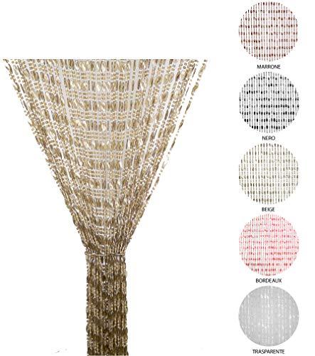 Tata Home Tenda Antimosche a Perline per Porta Finestra Moschiera a Pannello Misura 140 x 230 cm. Colore Beige