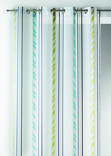 Casa casa hm6988298 pura fantasia bande verticali blu organza poliestere 140 x 260 cm