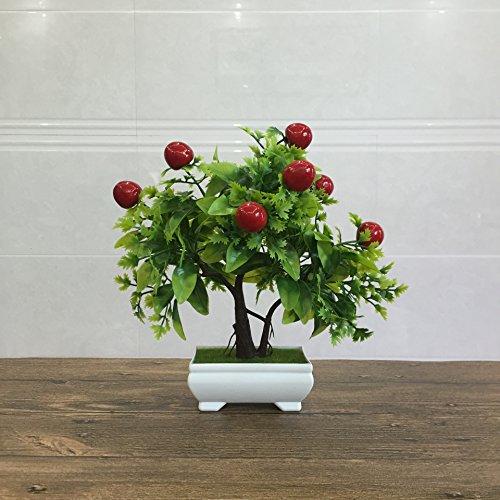 Suyunyuan Flowers Künstliche Früchte Orange Apple Lemon Tree Bonsai für Hochzeit Party Home Dekoration Fake Grün Topf Pflanzen Blumen Ornamente Cherry - Cherry-tomaten Orange