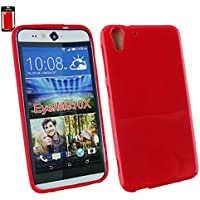 Emartbuy® HTC Desire Eye Shiny Gloss Gel Hülle Schutzhülle Case Cover Rot