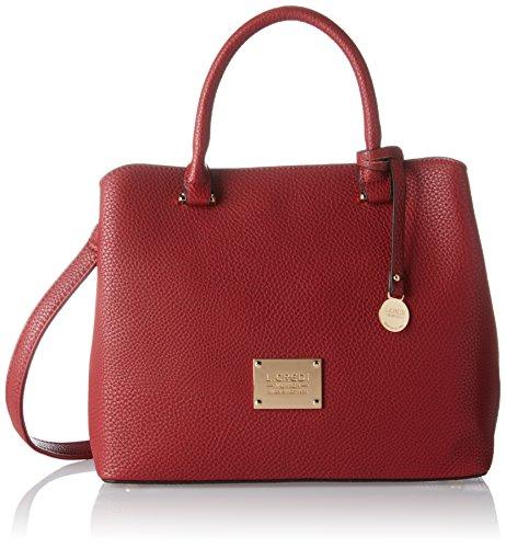 Borsa A Tracolla Per Donna Maxi Di Ledi, 17x24x28 Cm Rosso (rosso)