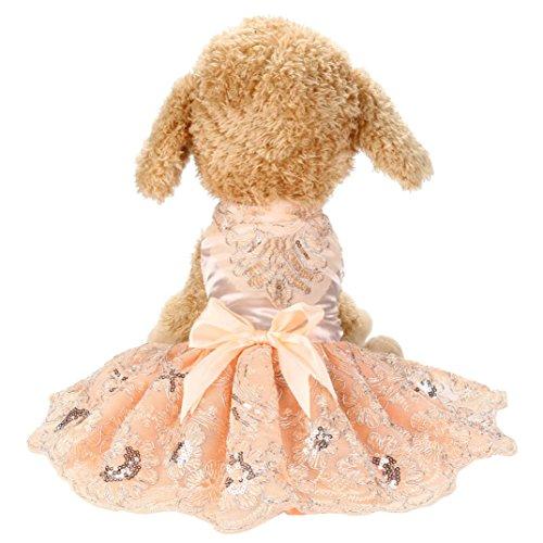 Artistic9 Hunde, für Haustiere, Kleid, Prinzessin, Sequins mit Stickerei, Tutu-Kleid