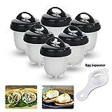 Cuociuova Egglettes Egg Cooker, Silicone Uovo Fornello in Camicia Antiaderente Casa e cucina Accessori