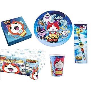 AUCUNE Wunderschöne Kit Geburtstagskarte Partyzubehör YO-Kai Watch für 16 Personen +Geschenke 1 Uhr Yo-Kai Watch