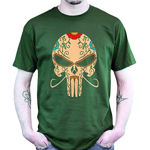 Mexico The Punisher T-shirt Jungle Green