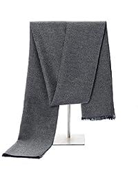 083d5d7196a5 Relddd Echarpes Hommes Foulard pour Echarpe vêtements de Travail pan Solide  Couleur Chaude Hommes Hiver Hommes New écharpe 180  …