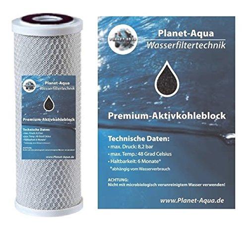 5 x WASSERFILTER AKTIVKOHLE BLOCK 10 Zoll FÜR DIE UMKEHR OSMOSE ALS KÜCHE FILTER TRINKWASSER VORFILTER BRUNNEN WASSER FILTERGEHÄUSE OSMOSEANLAGE GEGEN GERUCK; KEIME UND BAKTERIEN IM HAUSWASSERWERK - Block-filter