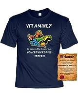 T-Shirt ,Funshirt, Motiv - Sprüche Shirt und Spaßurkunde Geschenke Set zum Geburtstag, Vitamine?