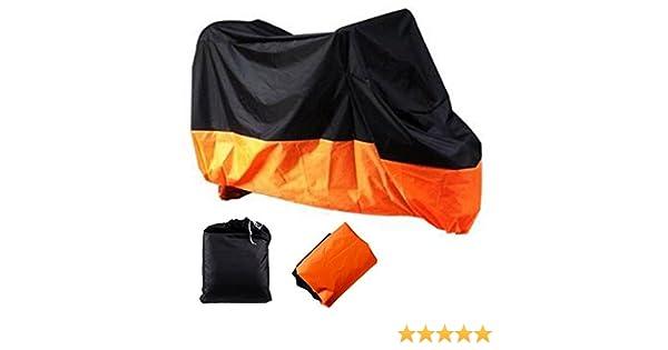 Housse de Protection pour Moto Housses de Moto Couverture Imperm/éable R/ésistant /à leau Poudre de Protection Etanche Respirant Orange XXXL