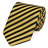 Fabio Farini dynamische schwarz-gelb gestreifte 8 cm Krawatte, Business, Anzug-Krawatte