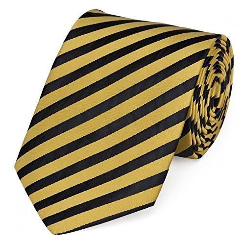Fabio Farini dynamische schwarz-gelb gestreifte 8 cm Krawatte, Business, Anzug-Krawatte Business-krawatte