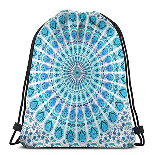 Hippy Mandala Bohemian 3D Print Drawstring Backpack Rucksack Shoulder...