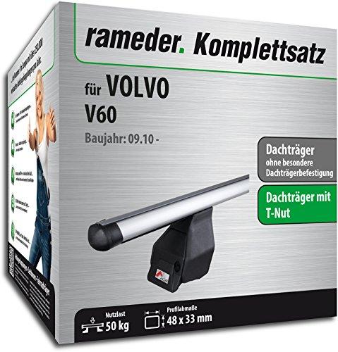 Rameder Komplettsatz, Dachträger Tema für Volvo V60 (123591-09124-2)