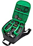 NiceCool® Waterproof DSLR Camera Lens Backpack Case Bag For Carrying Bag / Case for Canon ,Nikon, Sony, Pentax, Olympus Panasonic, Samsung & Many More + (Green)