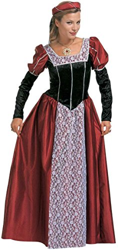 Widmann 35483 - Erwachsenenkostüm Burgfräulein, Kleid mit Kopfbedeckung und Schleier, Größe (Deutsch Kostüme Fraulein)