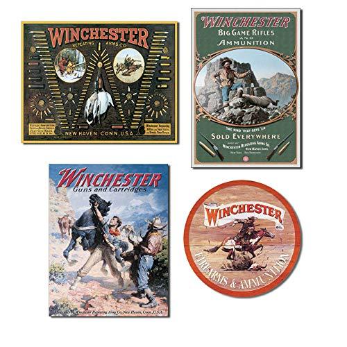 Bundle: Winchester Signs - Winchester Bulllet Board, Winchester Hunter with Ram, Winchester Gruselpferd und Winchester Express Round -
