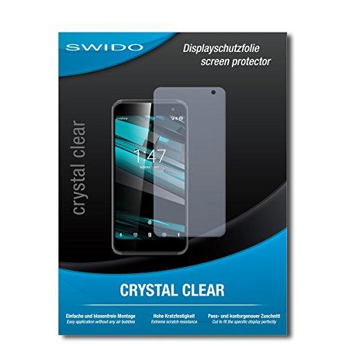 SWIDO Bildschirmschutzfolie für Vodafone Smart Platinum 7 [3 Stück] Kristall-Klar, Extrem Kratzfest, Schutz vor Öl, Staub & Kratzer/Glasfolie, Bildschirmschutz, Schutzfolie, Panzerfolie