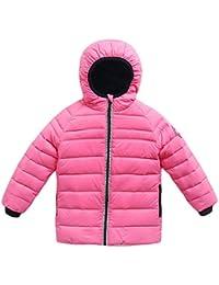 Roffatide Chaqueta Niños para Otoño Invierno Cremallera Espesor Abrigos  Ligero Down Jacket Niñas ... 008c289b0ce