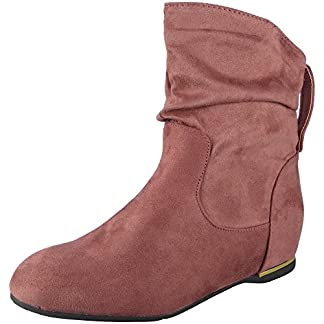 Women Wedge Ankle Boots | Flat Suede Boots | Pull On Boots | Suede Ankle Boots | Slouch Ankle Boots | Ankle Boots for Women | Pull On Ankle Boots | Low Heel Boots for Women