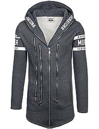BOLF – Sweat-shirt á capuche – Fermeture éclair – J. STYLE Y36-3 – Homme