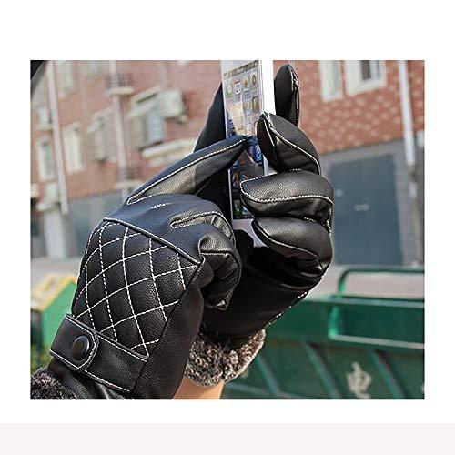 Preisvergleich Produktbild LH Wintermänner Handschuhe,  Samtbike Winddichte Warme Handschuhe Waschen Leder Pu Leder Touchscreen Elektronische Produkte