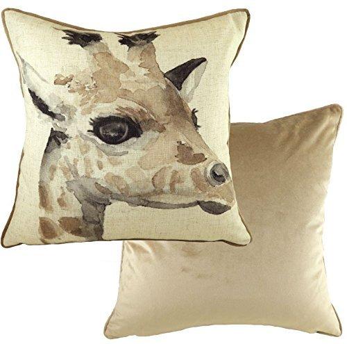 Evans Lichfield Hergestellt in Großbritannien Safari Giraffe grau Nerz Kissenbezug 17
