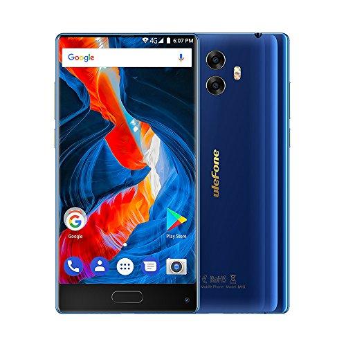 Ulefone Mix - 5,5' 4G FDD-LTE Smartphone Libres, Pantalla Infinita, Android 7.0 Octa Core 4GB+64GB, Cámara 13MP+5MP con 13MP, Sensor de Huella Dactilar, Doble SIM Teléfono Móvil