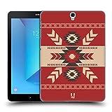 Head Case Designs Rot Neo Navajo Ruckseite Hülle für Samsung Galaxy Tab S3 9.7