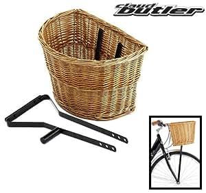 claud butler panier en osier avec support de fixation noir. Black Bedroom Furniture Sets. Home Design Ideas