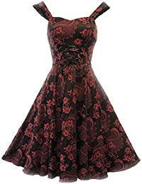 Hearts & Roses Damen Kleid Reds and Blacks